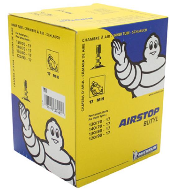 Chambre à air 17 pouces (130/70-140/70-130/80-120/90) - Michelin 17MH TR4