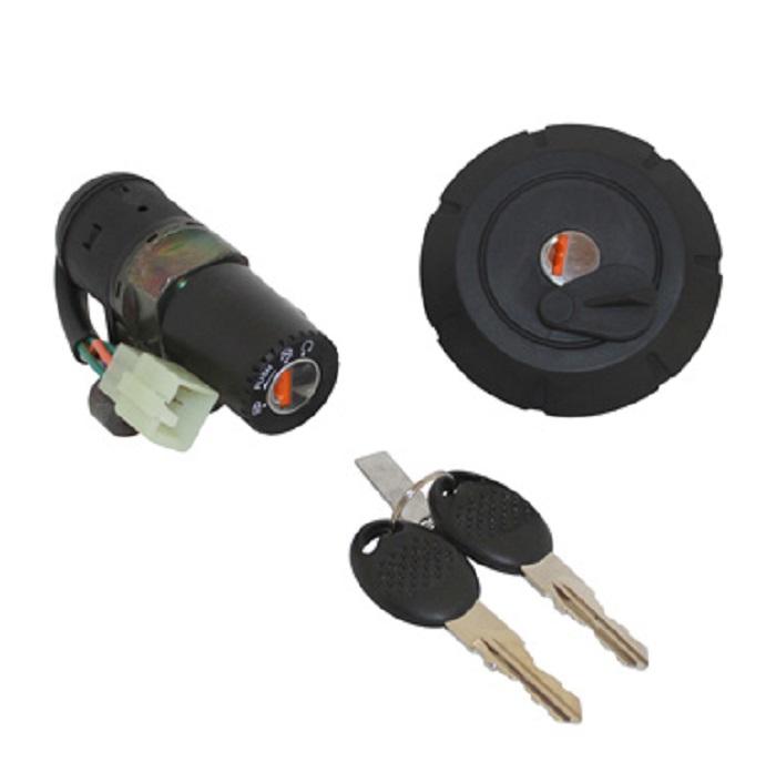 Contacteur à clef MBK X-Limit / YAMAHA DT 50 (avec bouchon essence a clef)