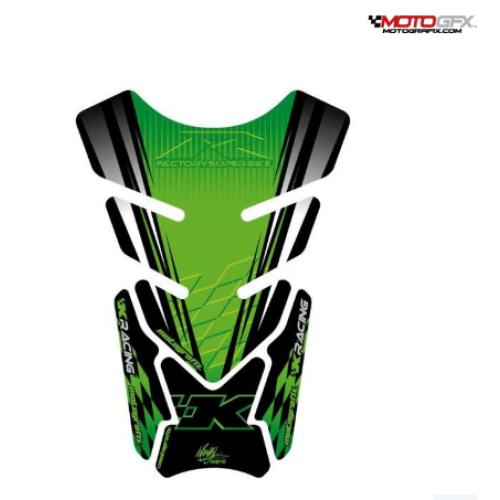 Protection de réservoir MOTOGRAFIX 4pcs vert Kawasaki