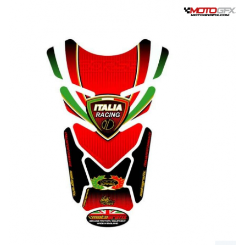 Protection de réservoir MOTOGRAFIX 4pcs rouge Tricolour Ducati