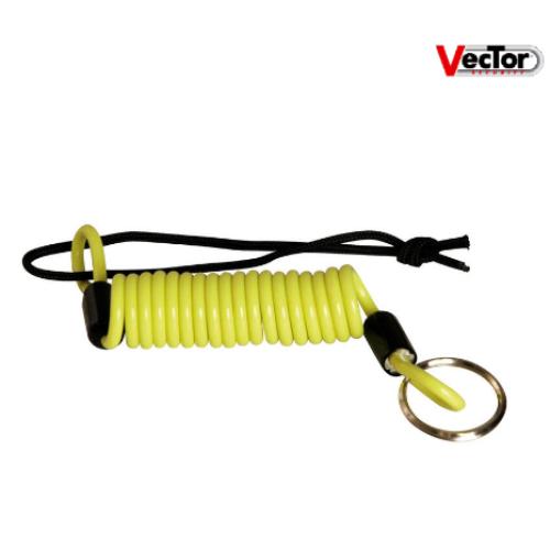 Câble de rappel VECTOR jaune fluo pour bloque disque/antivol