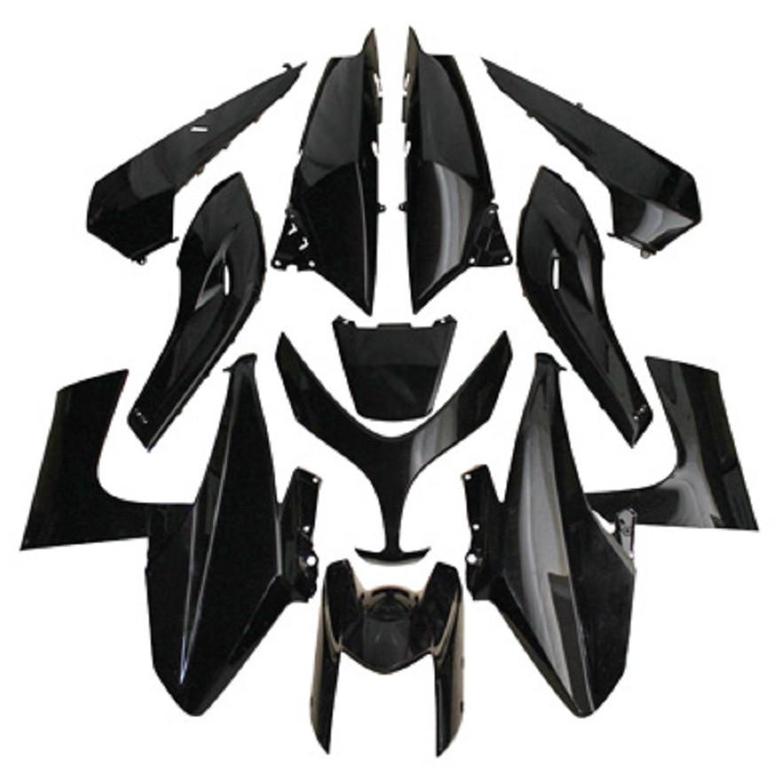 kit carenages yamaha 500 tmax 2008 2011 noir 13 pieces pas cher. Black Bedroom Furniture Sets. Home Design Ideas