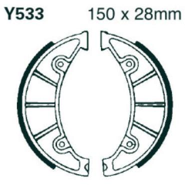 Mâchoires de freins (D150x28mm) - EBC