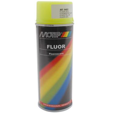 Bombe de peinture MOTIP PRO FLUO Jaune 400ml