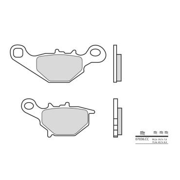 Plaquettes de frein BREMBO 07036CC Carbon Ceramic