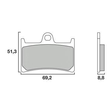 Plaquettes de frein BREMBO sintered 07077XS