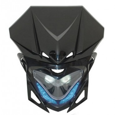Plaque phare RR8 (Noir - Leds bleu)