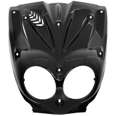 Carenage MBK 50 Stunt / Slider - Face avant (Noir Brillant)