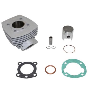 Cylindre Adaptable PEUGEOT 103 Air (6 Transferts, Bride+Ecrou)  -Alu Nikasil  P2R-