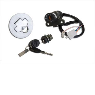 Contacteur a clef Aprilia 50 RS (4 fils) - complet avec bouchon
