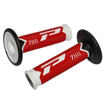 Poignees ProGrip 788 Rouge / Blanc / Noir (La paire) - Cross 115mm