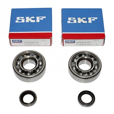 Roulement D'Embiellage + Joint Adaptable MBK 51, 41, 40, 88, Club (Kit Skf 6302 Acier)