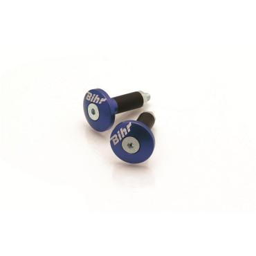 Embout de Guidon D12mm BIHR (Bleu)