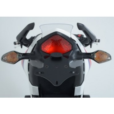 Support de plaque Honda 500 CB500F / CB500X / CBR500R Alu Noir - RG RACING