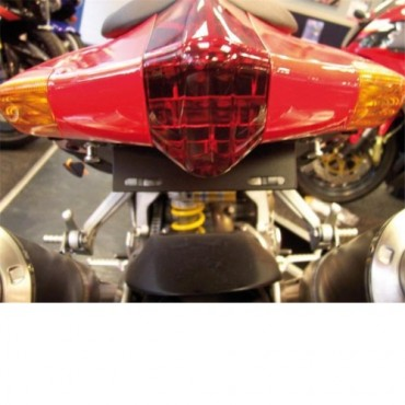 Support de plaque Aprilia 1000 RSV / Tuono Noir - RG RACING
