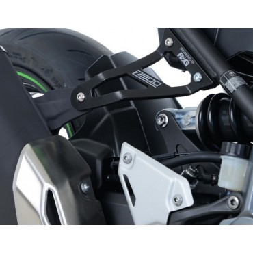 Patte de fixation Silencieux KAWASAKI 900 Z Noir RG RACING