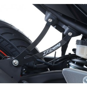 Patte de fixation Silencieux YAMAHA 320 YZF R3 Noir RG RACING