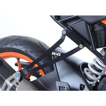 Patte de fixation silencieux KTM 125 / 390 RC Noir RG RACING