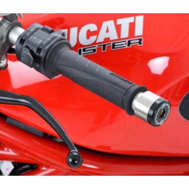 Embout de Guidon Moto Ducati 848 / 1200 Monster / Guidon Renthal D.13.5 mm  R&G