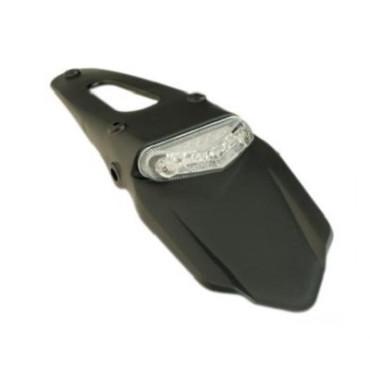 Bavette arrière avec feu transparent a LED