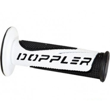Poignees Grip Radical Doppler Blanc / Noir (La paire)