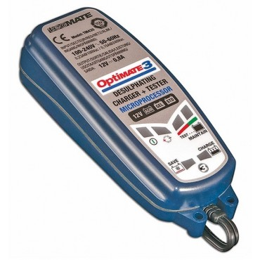 Chargeur de batterie OPTIMATE 3 TM-430 - 0.8A / 12V - TECMATE