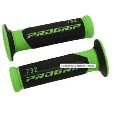 Poignees ProGrip 732 Vert / Noir (La paire) - Scoot