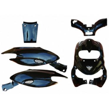 Kit carenages Gilera 50 Stalker (Noir - 5 pieces)