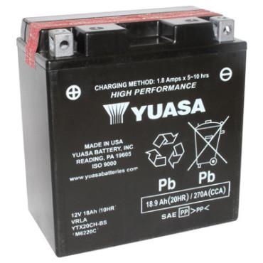 Batterie 12V YTX20CH-BS YUASA (acide fourni)
