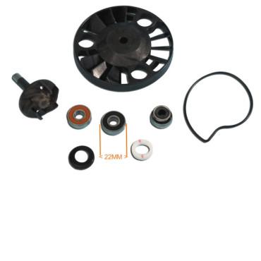 Pompe a eau Piaggio 125 X8 - X9 (Moteur 125 leader - Roulements 22mm)