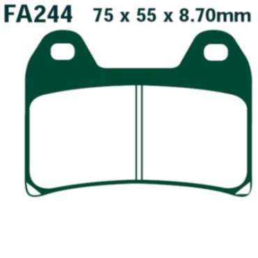 Plaquettes de frein EBC FA244HH (Serie metal fritte)