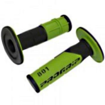 Poignees ProGrip 801 Vert / Noir (La paire) - Cross