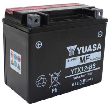 Batterie 12V YTX12-BS YUASA (acide fourni)