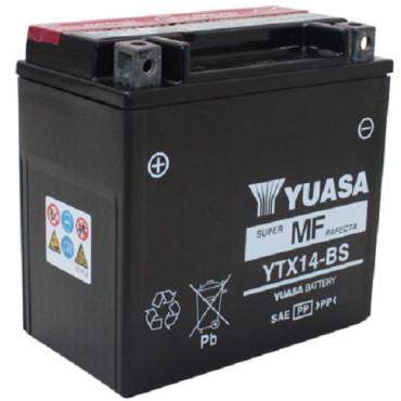 Batterie 12V YTX14-BS YUASA (acide fourni)