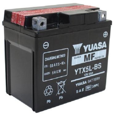 Batterie 12V YTX5L-BS YUASA (acide fourni)