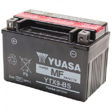 Batterie 12V YTX9-BS YUASA (acide fourni)