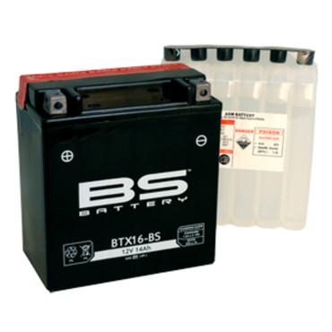 Batterie 12V YTX16-BS (avec pack acide) - BS BATTERY