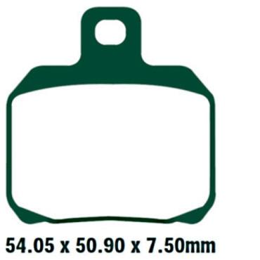 Plaquettes de frein EBC FA266HH (Serie metal fritte)