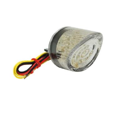 Feu arriere universel rond LED transparent (23 LEDS)