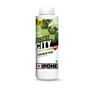 Huile 2T Ipone Scoot CITY Synthetic plus (1L) - Senteur fraise