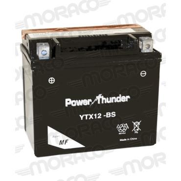 Batterie 12V YTX12-BS - POWER THUNDER