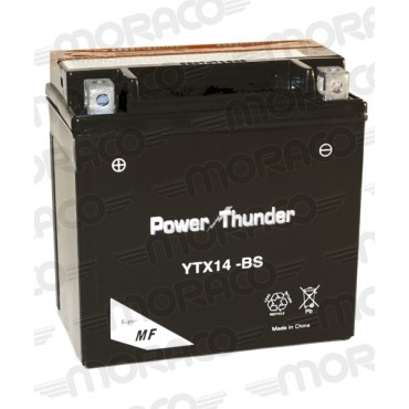 Batterie 12V YTX14-BS - POWER THUNDER