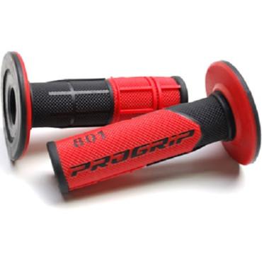 Poignees ProGrip 801 Rouge / Noir (La paire) - Cross