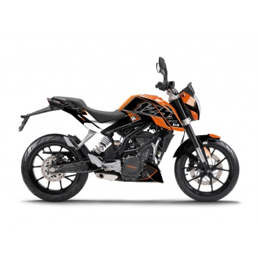 Kit Déco UP MAXIMIZE KTM 125 DUKE 2011-2013 Noir/Orange