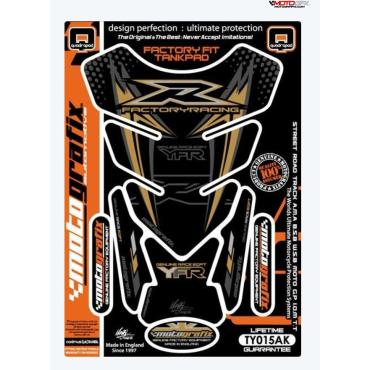 Protection de réservoir MOTOGRAFIX 4pcs noir/or Yamaha