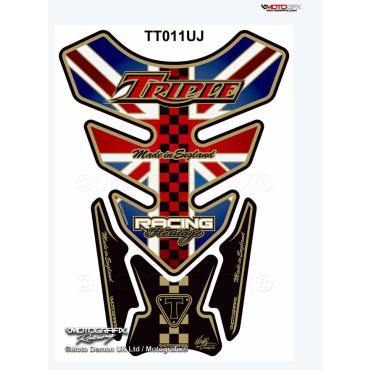 Protection de réservoir MOTOGRAFIX 4pcs Union Jack Triumph
