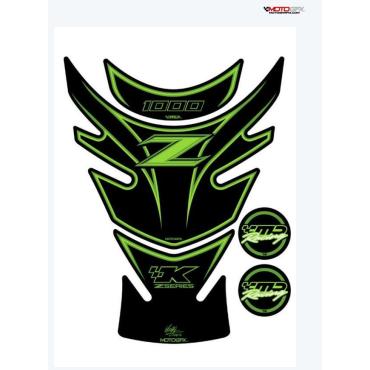 Protection de réservoir MOTOGRAFIX 3pcs vert Kawasaki Z1000