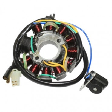 Stator d'allumage Scooter 125 4T Chinois 11 POLE GY6 (152QMI)