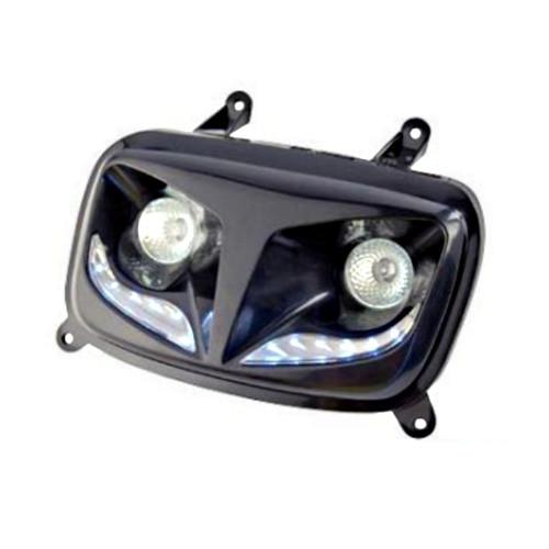 optique de phare mbk booster 2004 type r8 noir pas cher. Black Bedroom Furniture Sets. Home Design Ideas
