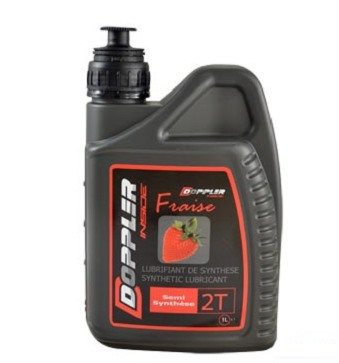 Huile Doppler 2T racing Synthese senteur fraise (1L)